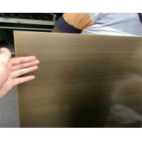 Buy cheap satin brush titanium bronze coated sheets color stainless steel 304 316 from wholesalers