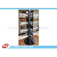 Buy cheap Rotated Glossy Black Bracelet Hanging Display Rack With Round Acrylic Hangers from Wholesalers