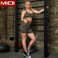 Buy cheap cttc Green Camouflage Bra Printed Shorts Miqi Yoga Suits For Women from wholesalers