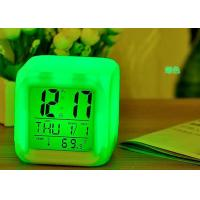 Buy cheap Modern Digital Led Cube Alarm Clock Night Glowing , Light Alarm Clock Decoration from wholesalers