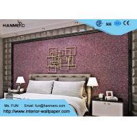 Buy cheap Purple Contemporary Mica Stone Wallpaper , Interior Decorating Wallpaper For Bedrooms from wholesalers