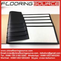 Buy cheap Rubber Bar Runner nitrile rubber base polyester top white blank for Sublimation Printing from wholesalers