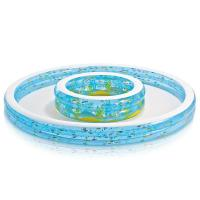 Buy cheap Environmentally Friendly PVC 6P Inflatable Swimming Pool 110 x 14 for Ages 2+ from wholesalers