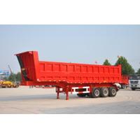 Buy cheap Multi axle side tipping trailer / truck semi trailer for sale from wholesalers