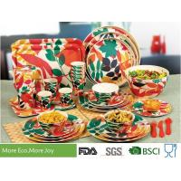 Buy cheap Round Shape Bamboo Fiber Dinnerware High Strength Fashionably Christmas Colors Design from wholesalers