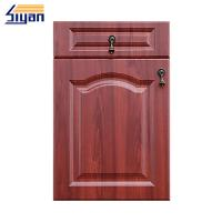 Buy cheap Customized Kitchen Classics Cabinet Doors Cnc Carved With Red Wood Grain Color from wholesalers