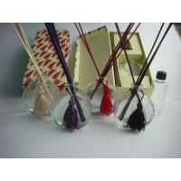 Buy cheap 100ml Perfume Oil Reed Diffuser Set Coconut Fragrance Round Glass Diffusers For from wholesalers