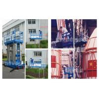 Buy cheap 10 Meter Hydraulic Aluminum Work Platform Four Mast Blue For Warehouses from wholesalers
