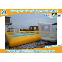 Buy cheap Waterproof 0.9mm PVC Inflatable Sports Field , Inflatable Football Pitch from wholesalers