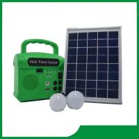 Buy cheap 10w bulbs mini solar power system with mobile phone charger, FM radio, MP3 for cheap selling from wholesalers