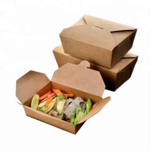 China Brown Snack Cardboard Food Boxes , Cardboard Takeaway Food Boxes on sale