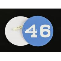 Buy cheap 0.76mm Printed Pvc Plastic Name Badges With Pin Fasterner For Staff product