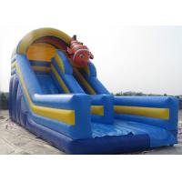 Buy cheap Blue Sea Fish Theme Inflatable Dry Slide 0.55mm Plato PVC Tarpaulin Material from wholesalers