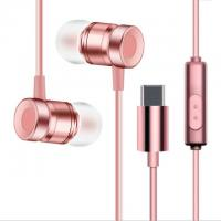Buy cheap USB Type-C Earbuds Magnetic Wired In ear Headphone Super Bass Music Earphone Earbuds from wholesalers