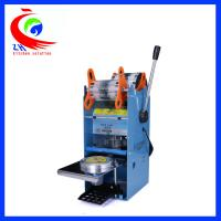 Buy cheap Small Coffee Shop Equipment , Manual Plastic Fruit Jelly Cup Sealing Machine from wholesalers