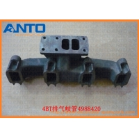 Buy cheap Cummins 4BT Exhaust Manifold 4988420 498-8420 Excavator Engine Parts from wholesalers
