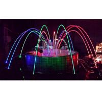 Buy cheap Water Park Dancing Laminar Jet Fountain With RGB Led Light CE/RoSH Certificated from wholesalers