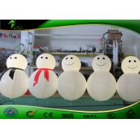 Buy cheap Cute Inflatable Holiday Decorations / Inflatable Snowman Cartoon With LED Light from wholesalers