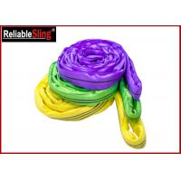 Buy cheap EN Standard Color Code Polyester Lifting Slings , Endless Cargo Slings from wholesalers