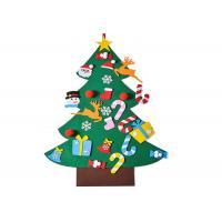 Buy cheap Kids Felt Christmas Tree Wall Hanging with 26pcs Detachable Christmas Ornaments from wholesalers