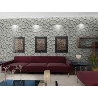 Quality Fashion Wall Art 3D Living Room Wallpaper , Modern 3D Wall Panel for Sofa for sale