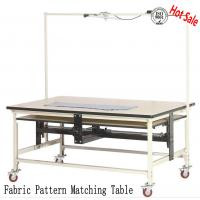 Buy cheap Custom-made Industrial Fabric Pattern Matching Table  with Laser Light/ Pin Table with Wheels for Sale in China from wholesalers