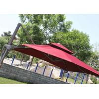 Buy cheap 2.5m Mini Roma Cantilever Garden Umbrella With Marble Base , Red Double Layer from wholesalers