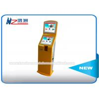 Buy cheap IR Touch Screen Self Service Ticket Vending Kiosk Back LED Light Advertising Panel from wholesalers