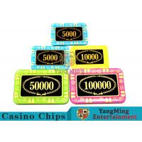 Buy cheap Anti - Counterfeiting Crystal Poker Chips / Rectangular Poker Chips For Casino from wholesalers