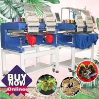 Buy cheap Much cheaper than zsk/tajima embroidery machine price HO1502H 400*450mm cap t-shirt flat 3d 2 head embroidery machine fo from wholesalers