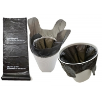 Buy cheap Easy Tie 18 micron Recyclable Waste Bags For Kitchen Waste Bins from wholesalers