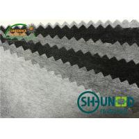 Buy cheap Polyester / Nylon fusible non woven interlining fabrics with paste dot coating for garments from wholesalers
