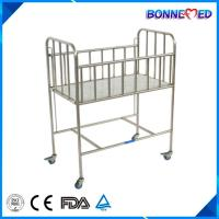 Buy cheap BM-E3001 High Quality Moveable Hot Sale Medical Stainless Steel Manual Baby Cot Hospital Bed from wholesalers