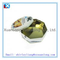Buy cheap Octagonal tin biscuit box from wholesalers