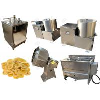 Buy cheap Green Banana Plantain Potato Chips Machine With Slicing And Deoiling Function 100 Kg / H from wholesalers