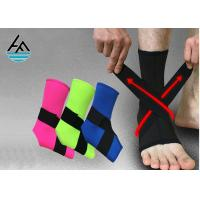 Buy cheap Waterproof Black Elastic Ankle Support With Steel Plate 100% Nylon Hook from wholesalers