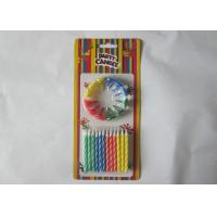 Buy cheap Striped Colorful Birthday Candles 6CM Height With Paraffin Wax Material from wholesalers