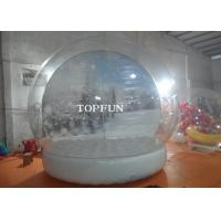 Buy cheap Custom Clear PVC Bubble Balloon Inflatable Snow Globe Tent With Airtight Base from wholesalers