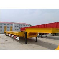 Buy cheap Zhuowei 3 Axle 60ton 13meters lowbed semi trailer gooseneck transportation excavators principally from wholesalers