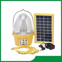 China Hot selling plastic camping solar lantern with mobile phone charger on sale