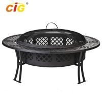 Buy cheap Custom 5 Inch Wide Stocked Outdoor Fire Pit With Screen / Cover product