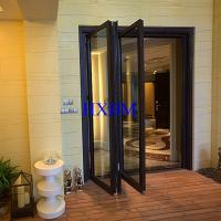 Buy cheap Luxury Home Decor Aluminium Clad Wooden Doors With doube glass Good Air Tightness from wholesalers