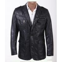 Buy cheap Custom Smart Designer and Fashionable, Plus Size Mens PU Leather Blazers product