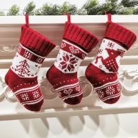 Buy cheap Hanging Christmas Knitted Stocking Decorations Stuffed Xmas Tree Hanging Toys from wholesalers
