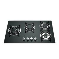 Buy cheap Built In Gas Stove 4 Burner Glass Top With Cast Iron Pan Support from wholesalers