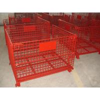 Buy cheap High Strength Industrial Metal Pallet Cages Warehousing / Component Storage from wholesalers