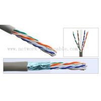 Buy cheap 1000ft Solid BC/CCA Cat6 FTP Cable 0.58mm Copper Pass Fluke 300 m/roll Grey from wholesalers