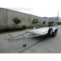 China Steel Tandem 2000kg 20x6 Vehicle Transport Trailer / Flatbed Car Carrying Trailers on sale