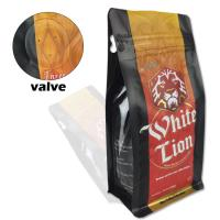Buy cheap wholesale printed 250g plastic coffee bean packaging bags with valve from wholesalers