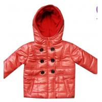 Buy cheap Custom Pink children down coat Fleece Double - breasted / Padded Jackets With Hood from wholesalers